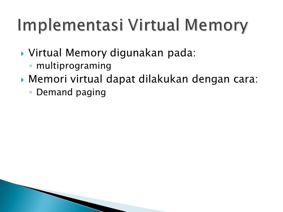 Implementasi Virtual Memory