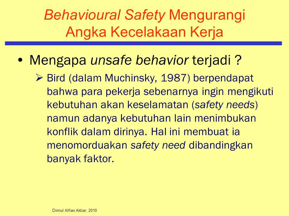 Behavioural Safety Mengurangi Angka Kecelakaan Kerja