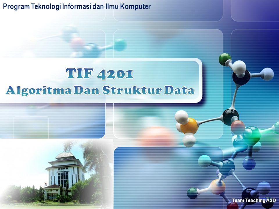 TIF 4201 Algoritma Dan Struktur Data
