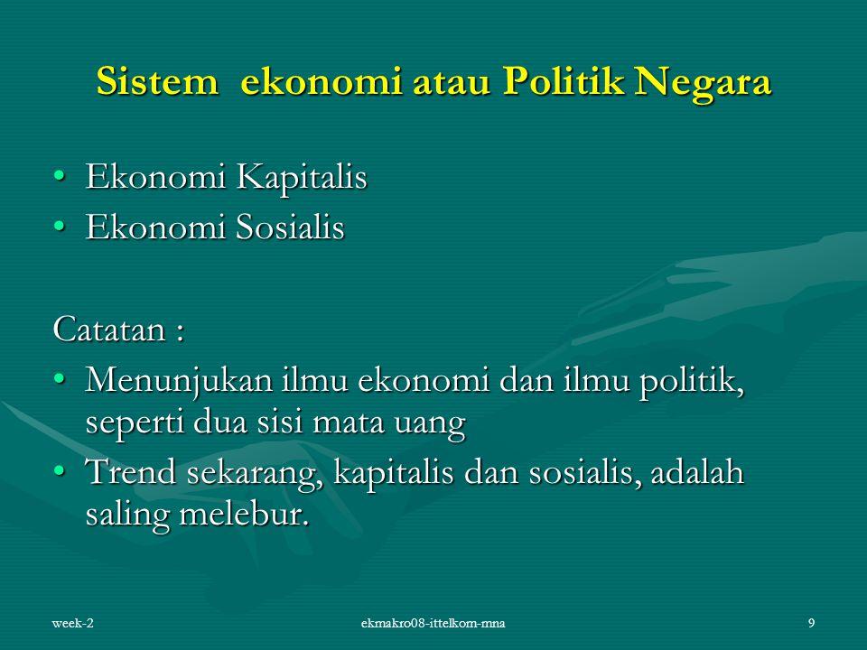 Sistem ekonomi atau Politik Negara