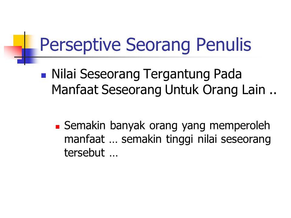 Perseptive Seorang Penulis