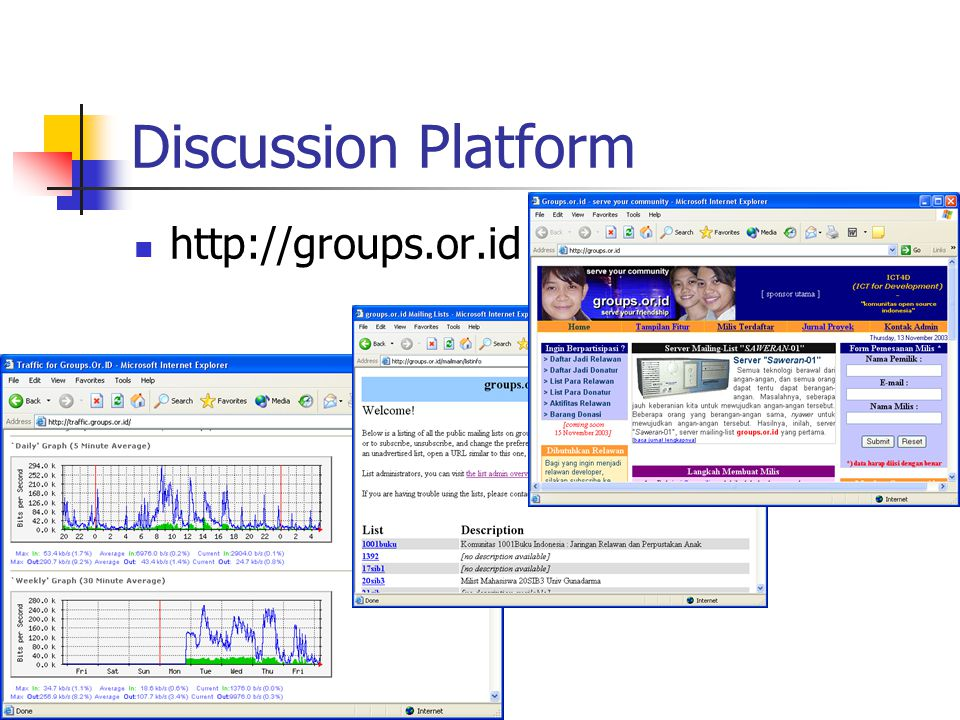 Discussion Platform http://groups.or.id