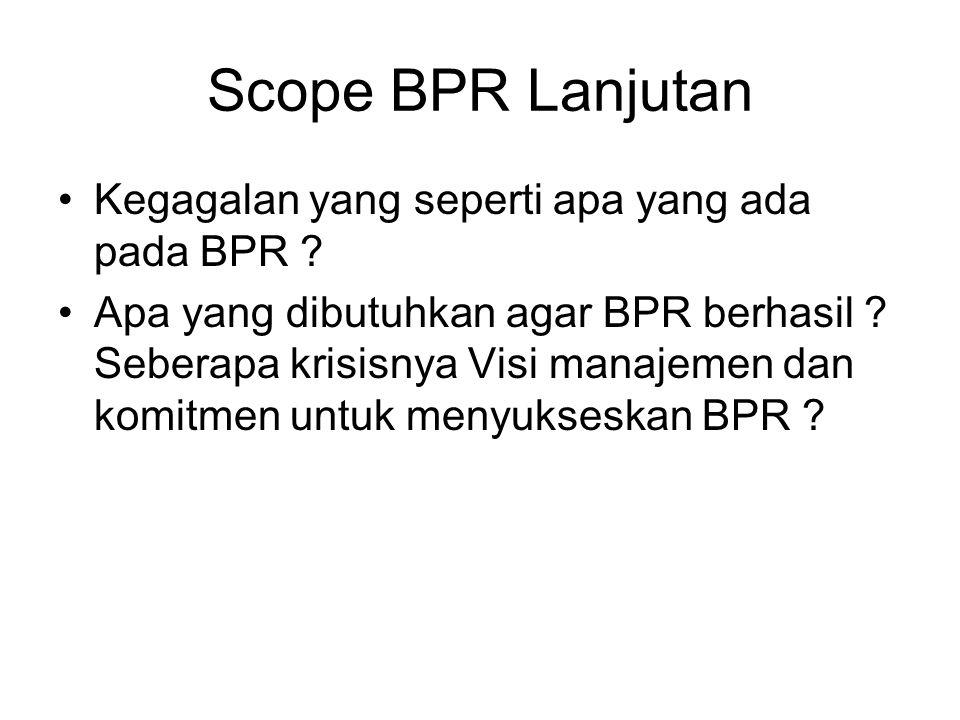 Scope BPR Lanjutan Kegagalan yang seperti apa yang ada pada BPR
