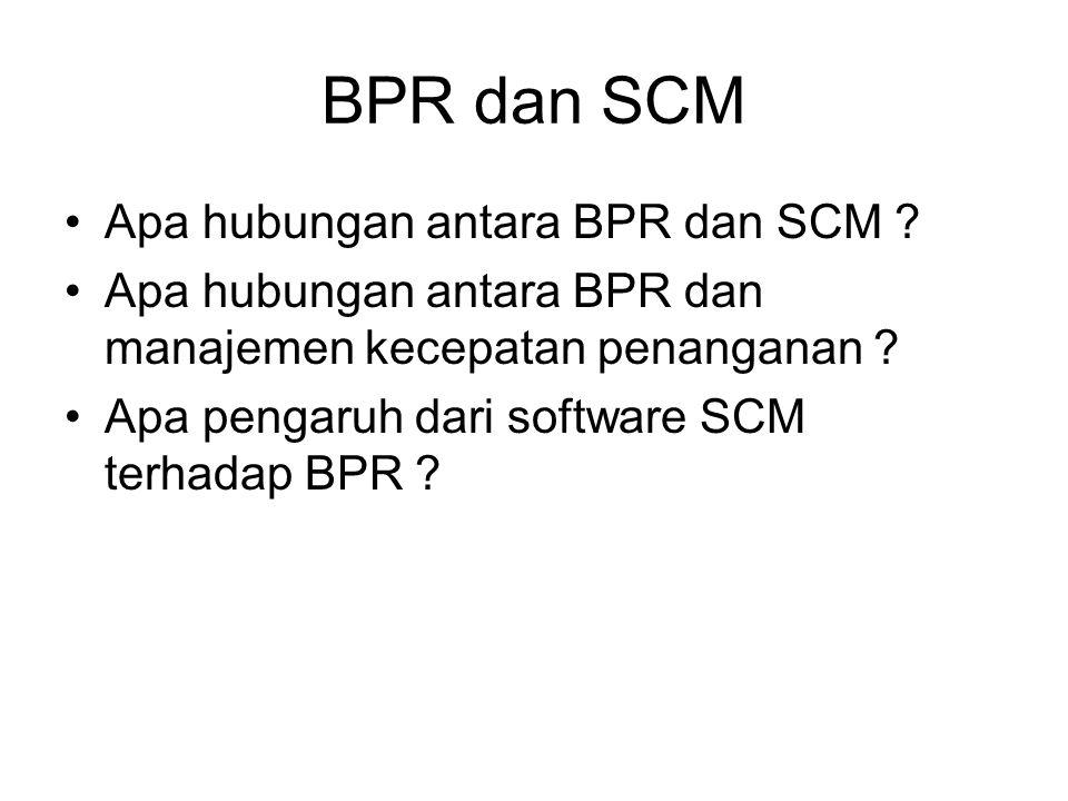 BPR dan SCM Apa hubungan antara BPR dan SCM