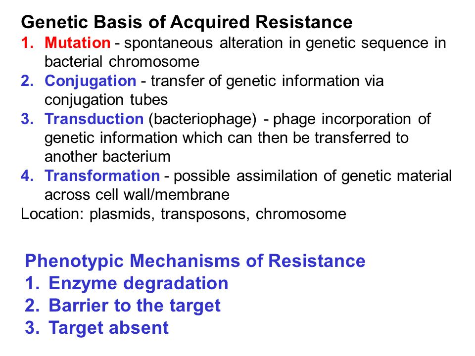 Genetic Basis of Acquired Resistance
