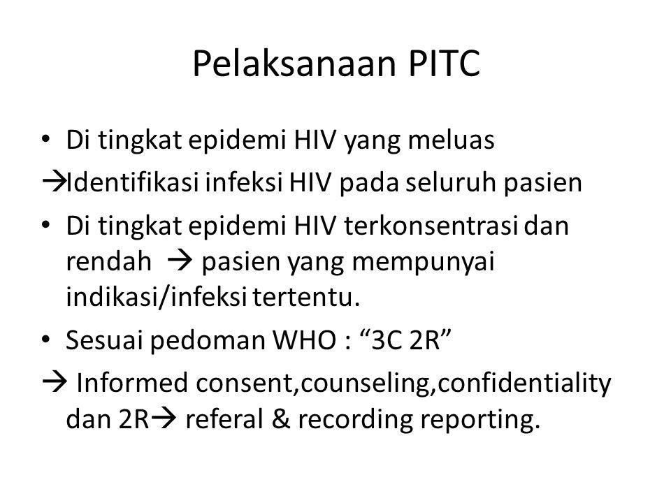 Pelaksanaan PITC Di tingkat epidemi HIV yang meluas