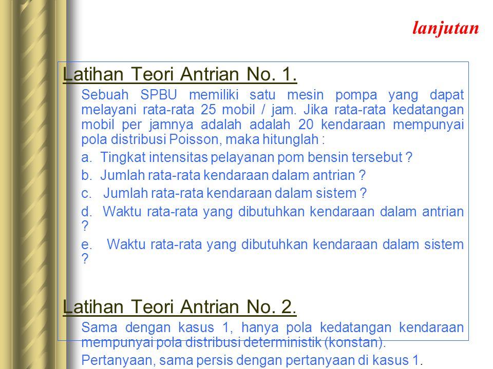 Latihan Teori Antrian No. 1.