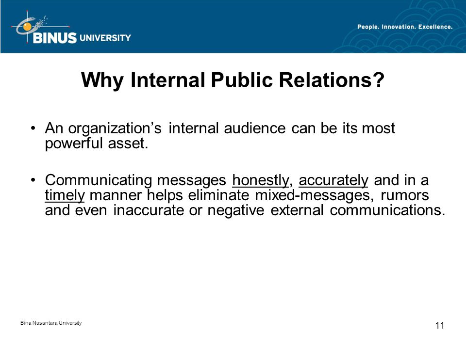 Why Internal Public Relations