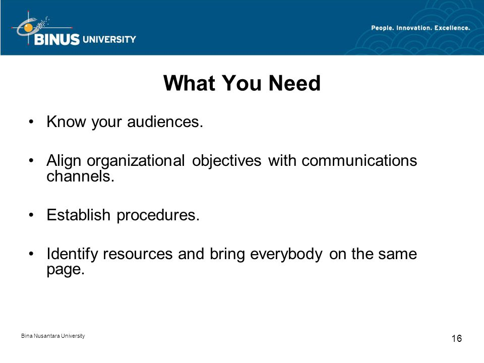 What You Need Know your audiences.