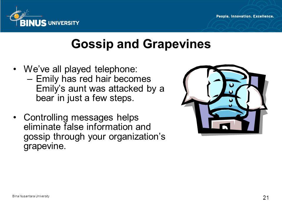 Gossip and Grapevines We've all played telephone: