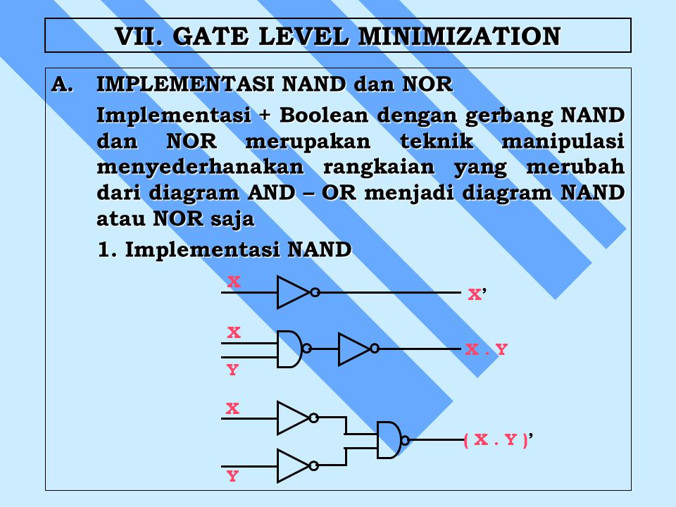 VII. GATE LEVEL MINIMIZATION
