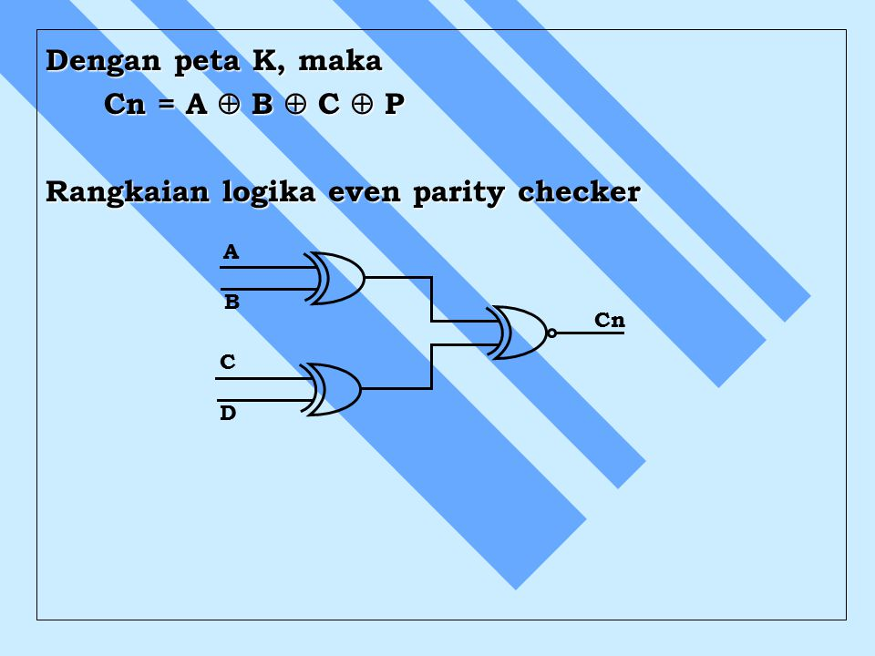 Rangkaian logika even parity checker