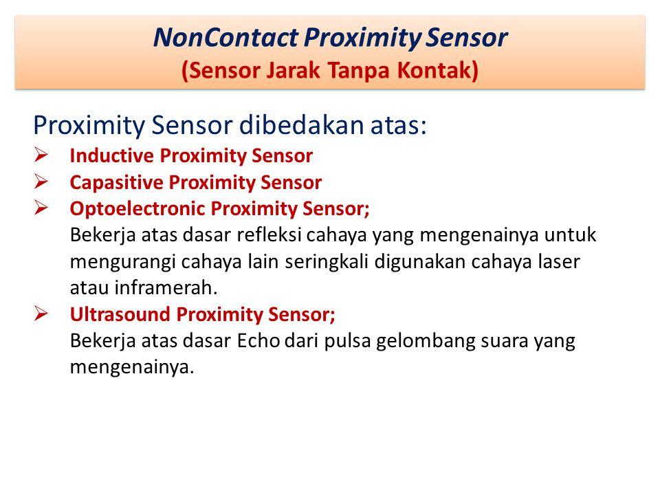 NonContact Proximity Sensor (Sensor Jarak Tanpa Kontak)
