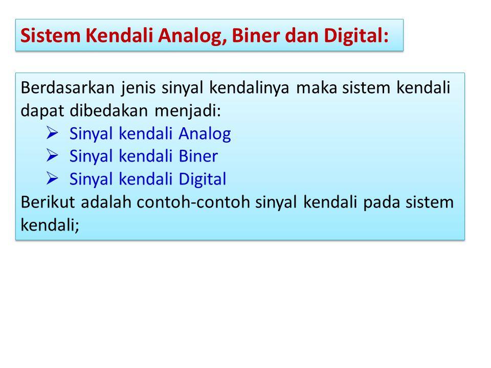 Sistem Kendali Analog, Biner dan Digital: