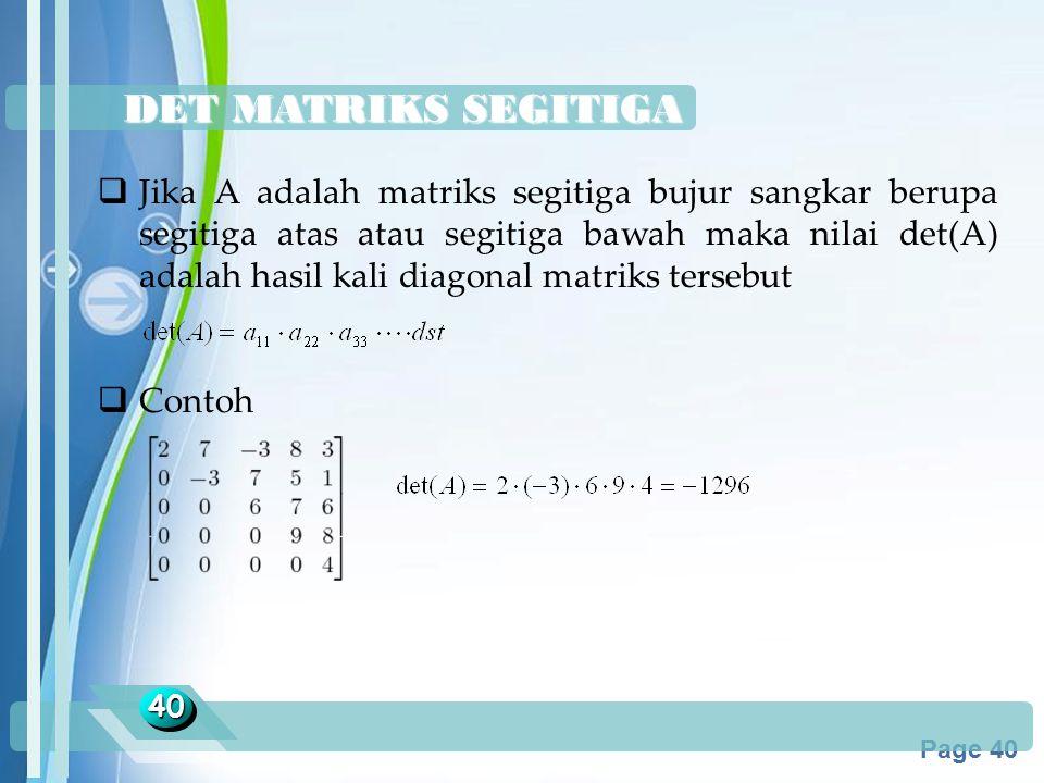 DET MATRIKS SEGITIGA