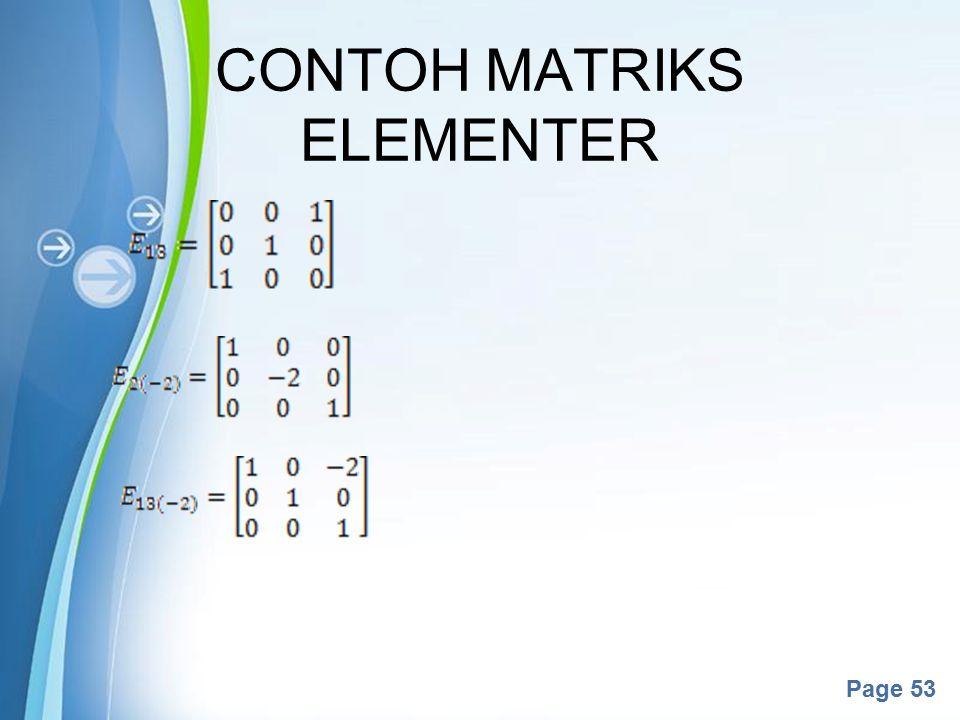 CONTOH MATRIKS ELEMENTER