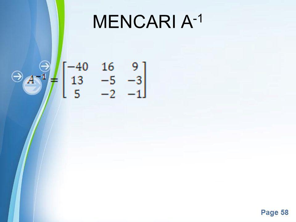 MENCARI A-1