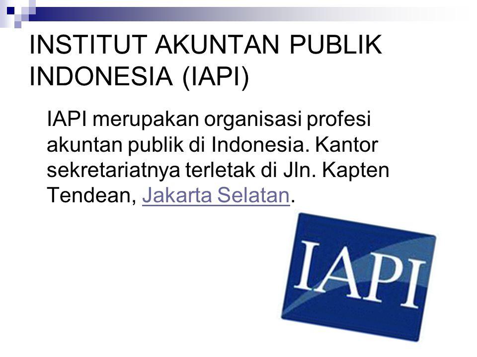 INSTITUT AKUNTAN PUBLIK INDONESIA (IAPI)