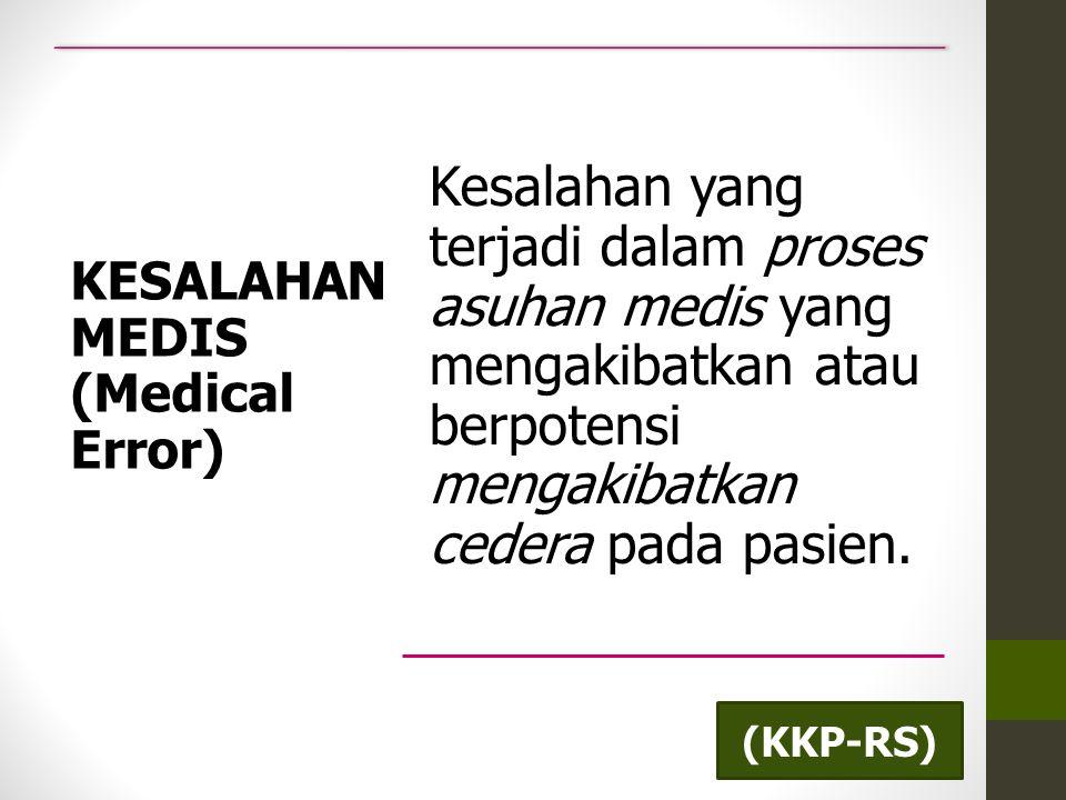 KESALAHAN MEDIS (Medical Error)