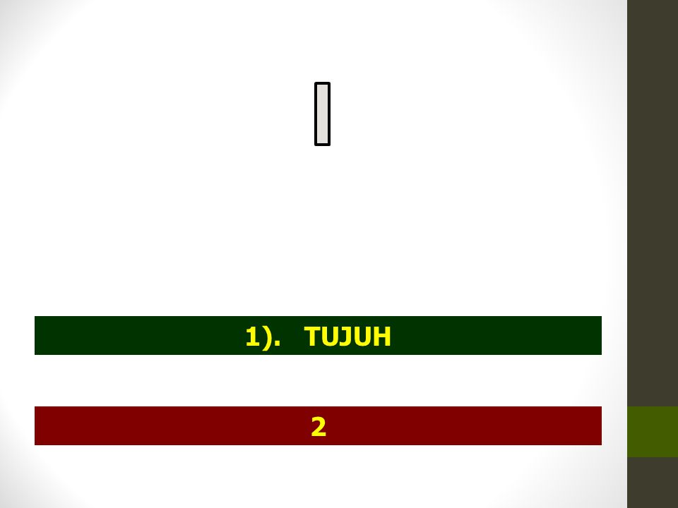 1). TUJUH 2