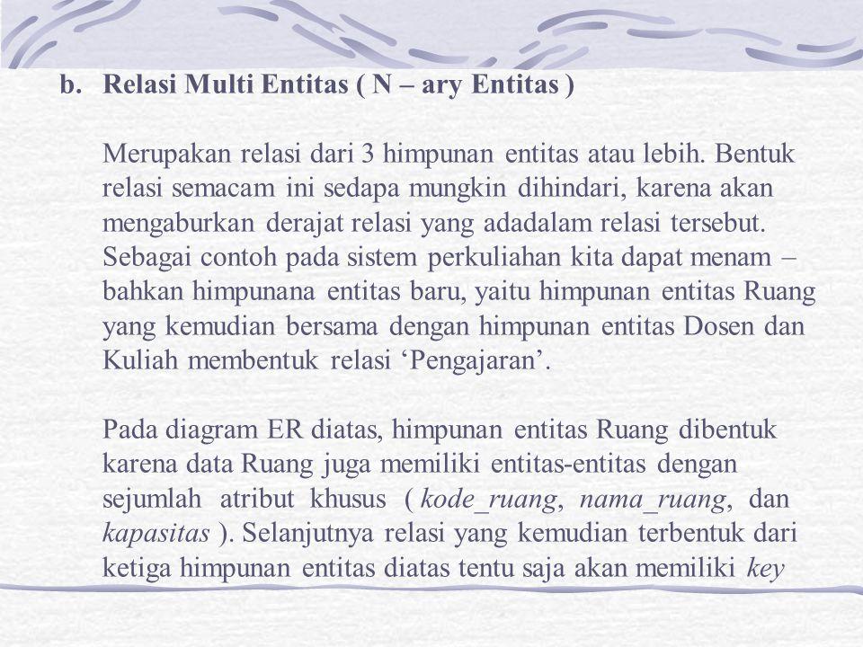 Relasi Multi Entitas ( N – ary Entitas )