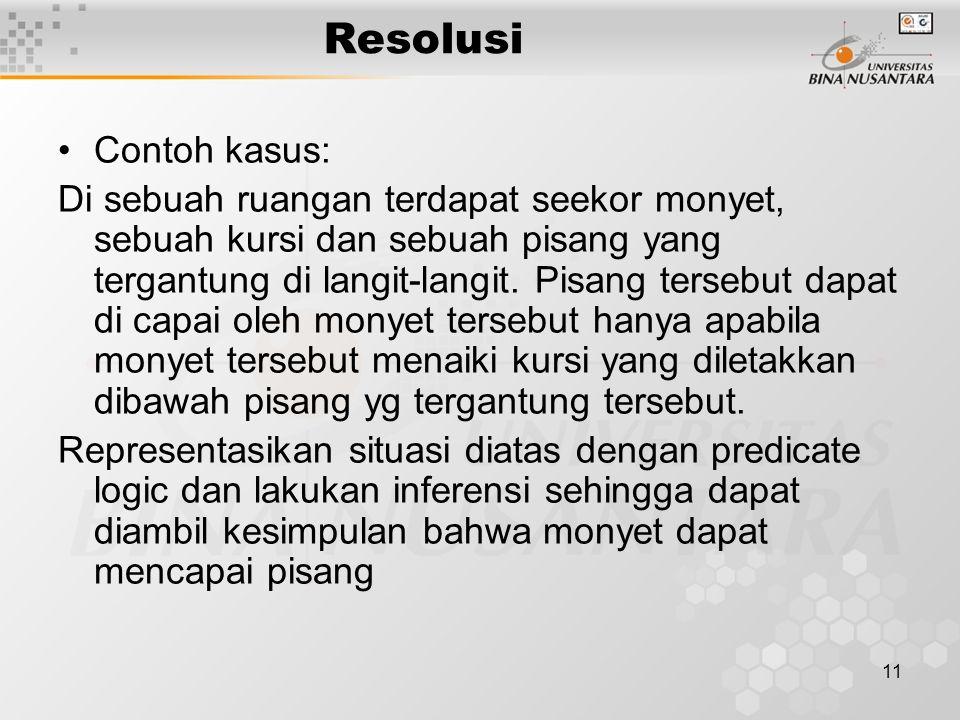 Resolusi Contoh kasus: