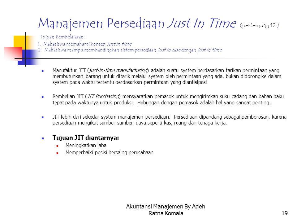 Akuntansi Manajemen By Adeh Ratna Komala