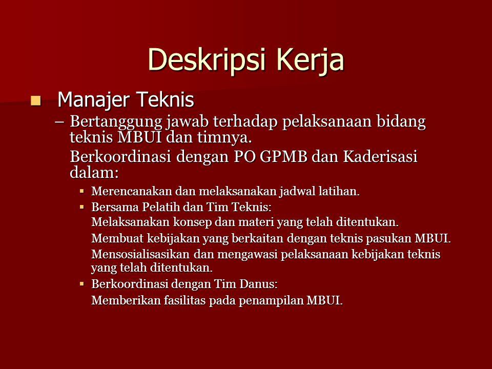Deskripsi Kerja Manajer Teknis