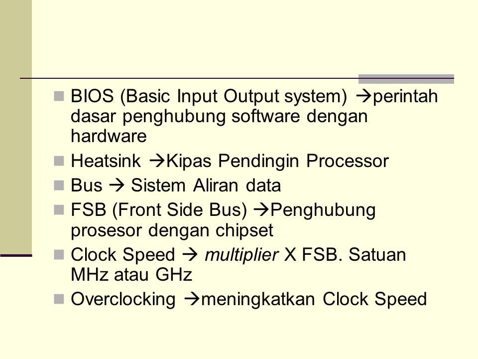 BIOS (Basic Input Output system) perintah dasar penghubung software dengan hardware