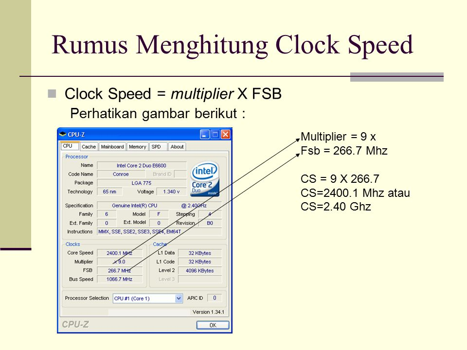 Rumus Menghitung Clock Speed