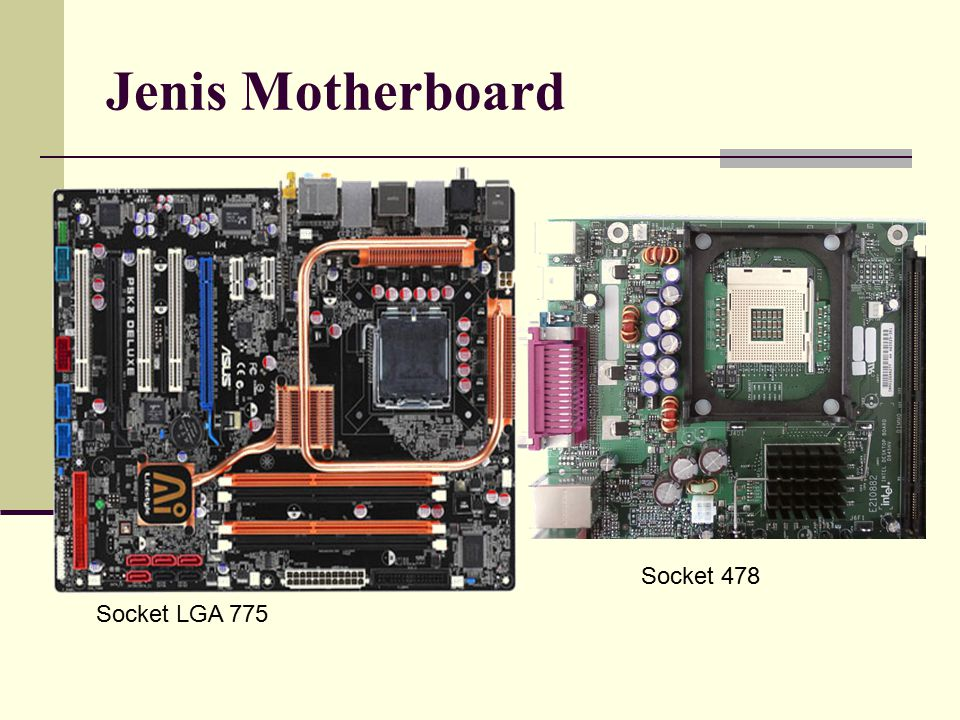 Jenis Motherboard Socket 478 Socket LGA 775