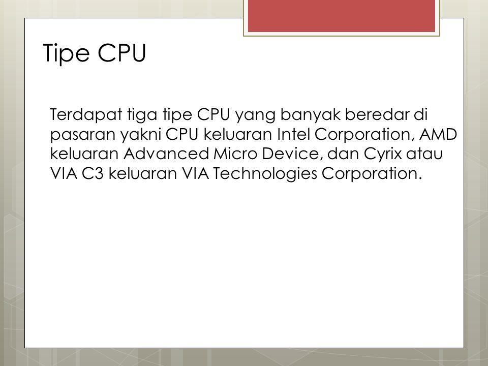Tipe CPU