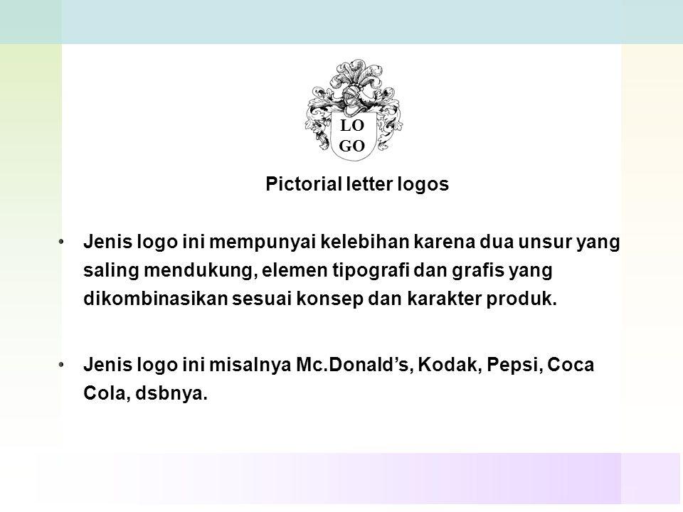 Pictorial letter logos