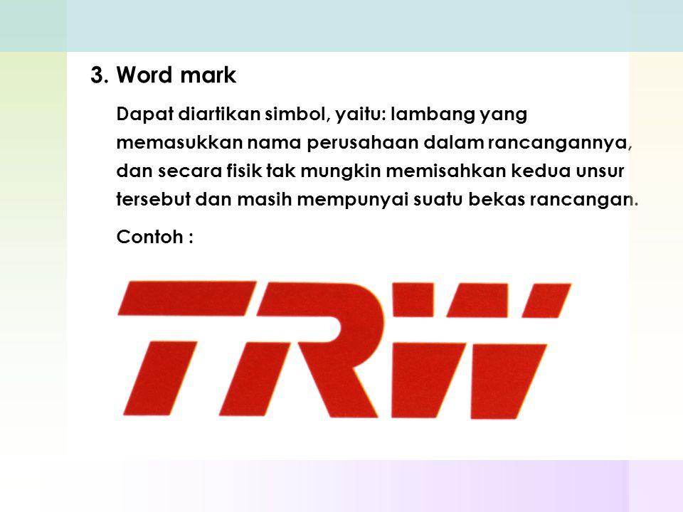 3. Word mark