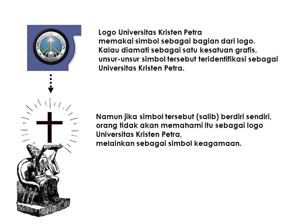 Logo Universitas Kristen Petra memakai simbol sebagai bagian dari logo