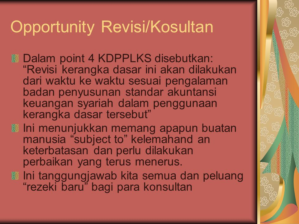 Opportunity Revisi/Kosultan