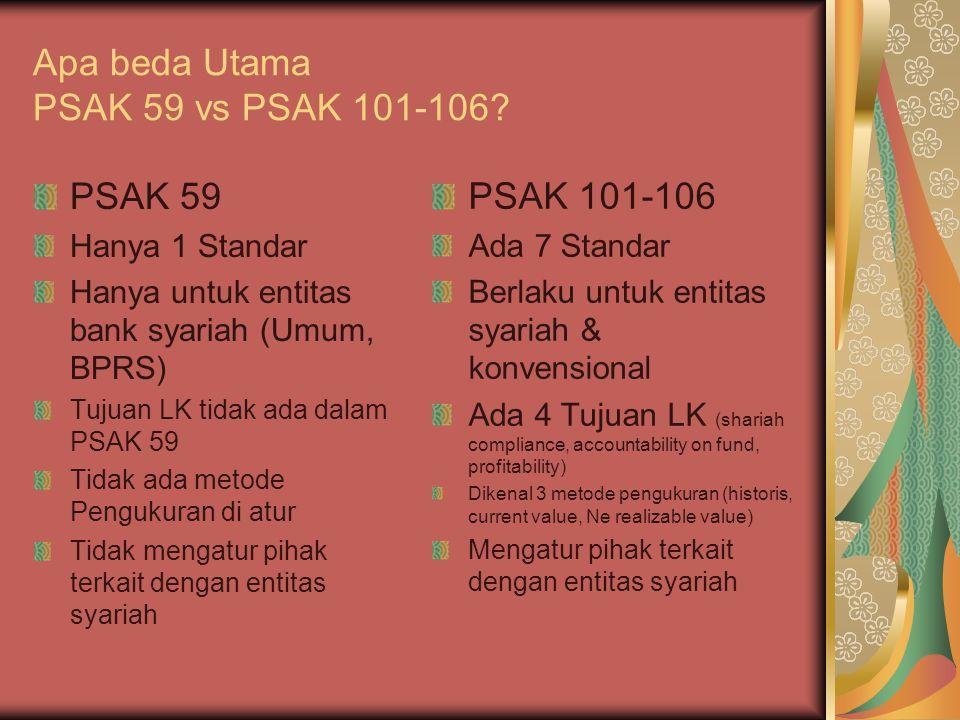 Apa beda Utama PSAK 59 vs PSAK 101-106