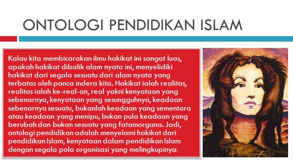 ONTOLOGI PENDIDIKAN ISLAM