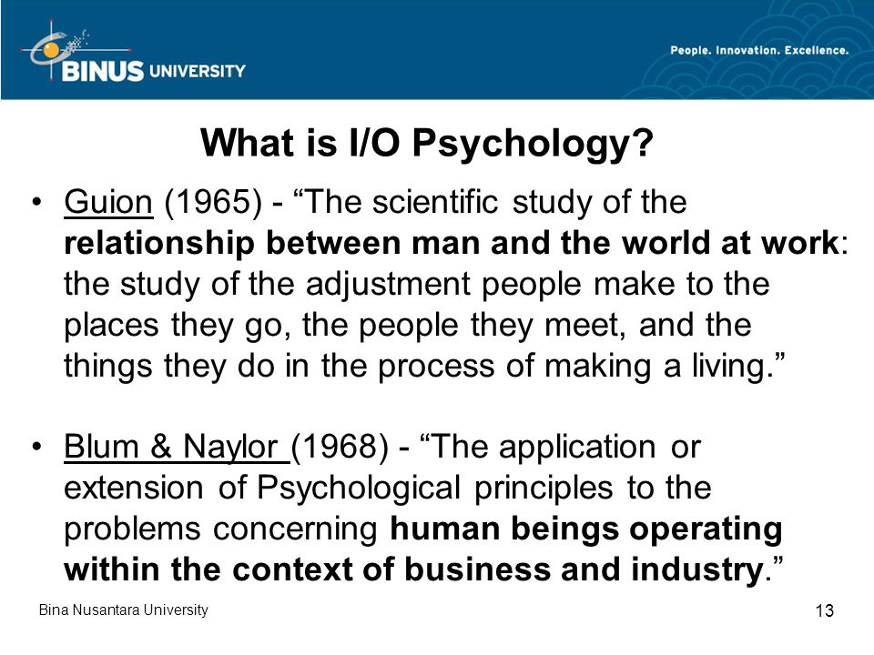 What is I/O Psychology