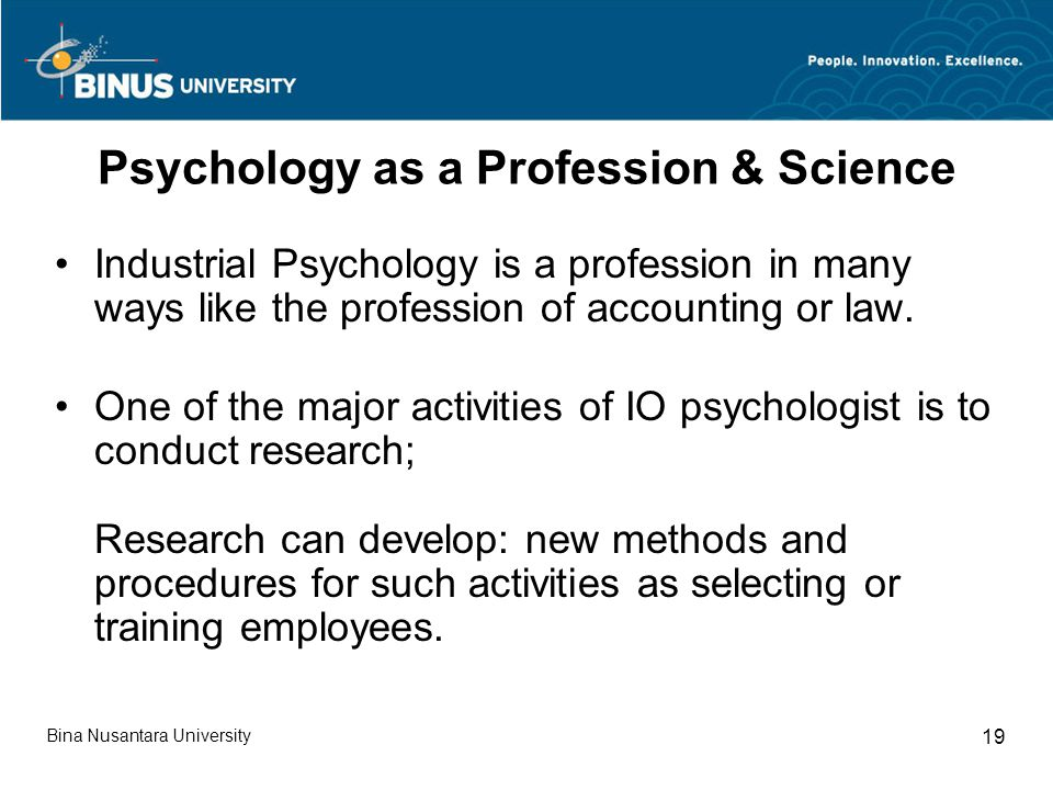 Psychology as a Profession & Science