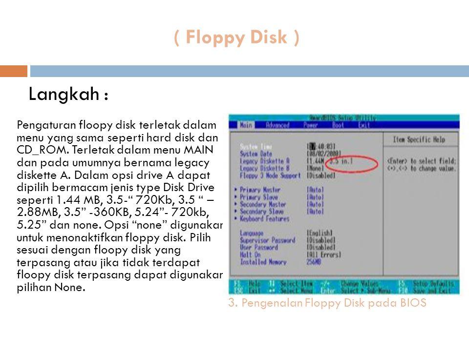 ( Floppy Disk ) Langkah :