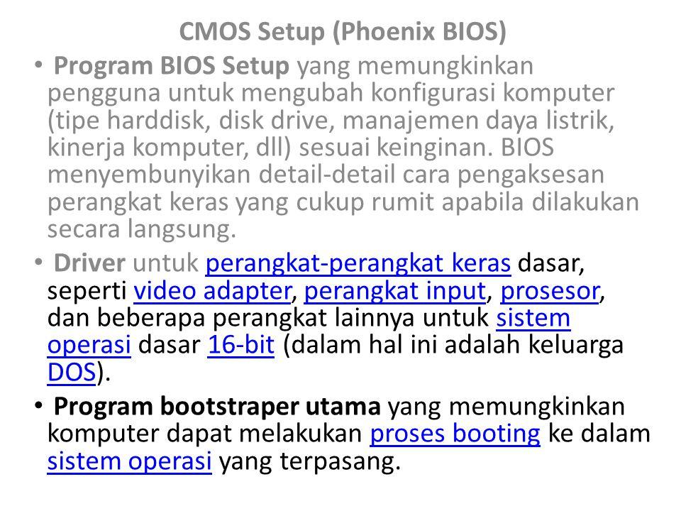 CMOS Setup (Phoenix BIOS)