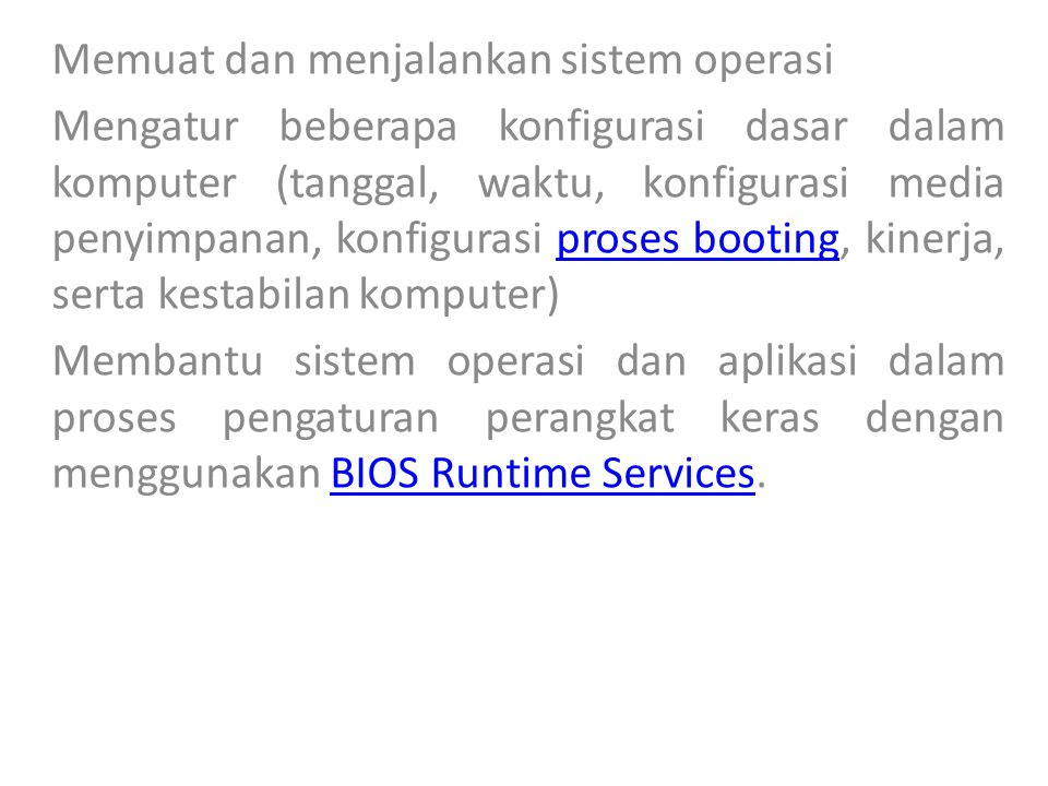 Memuat dan menjalankan sistem operasi