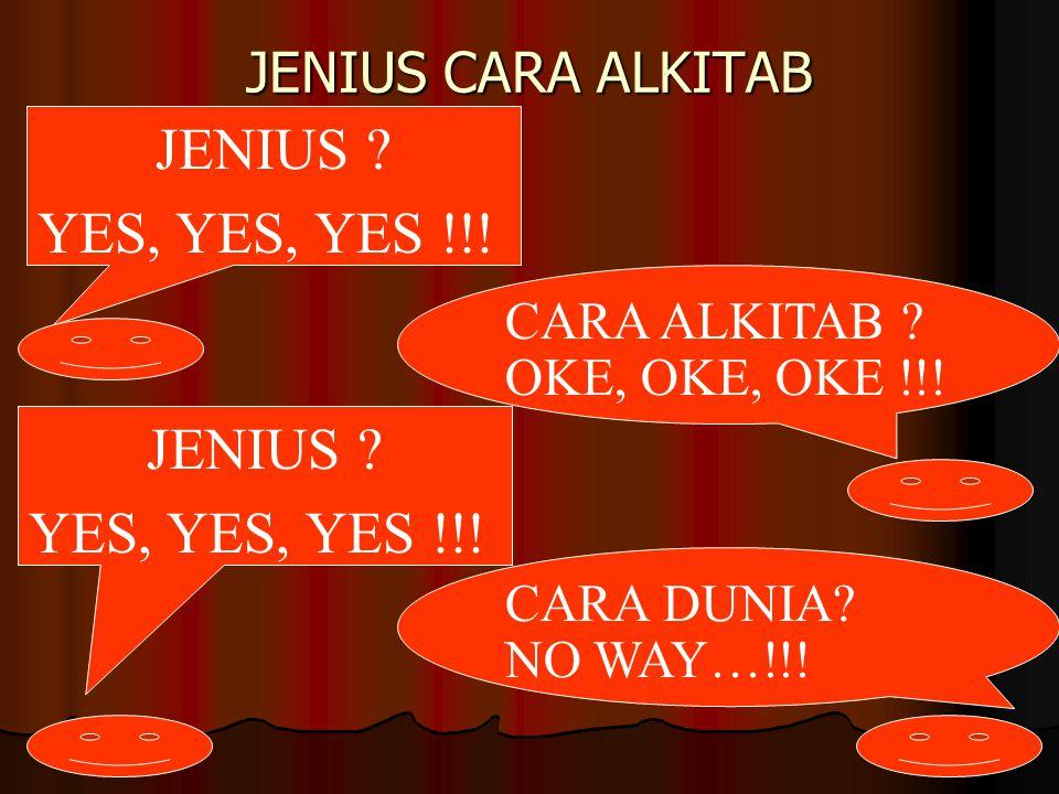 JENIUS YES, YES, YES !!! JENIUS YES, YES, YES !!!
