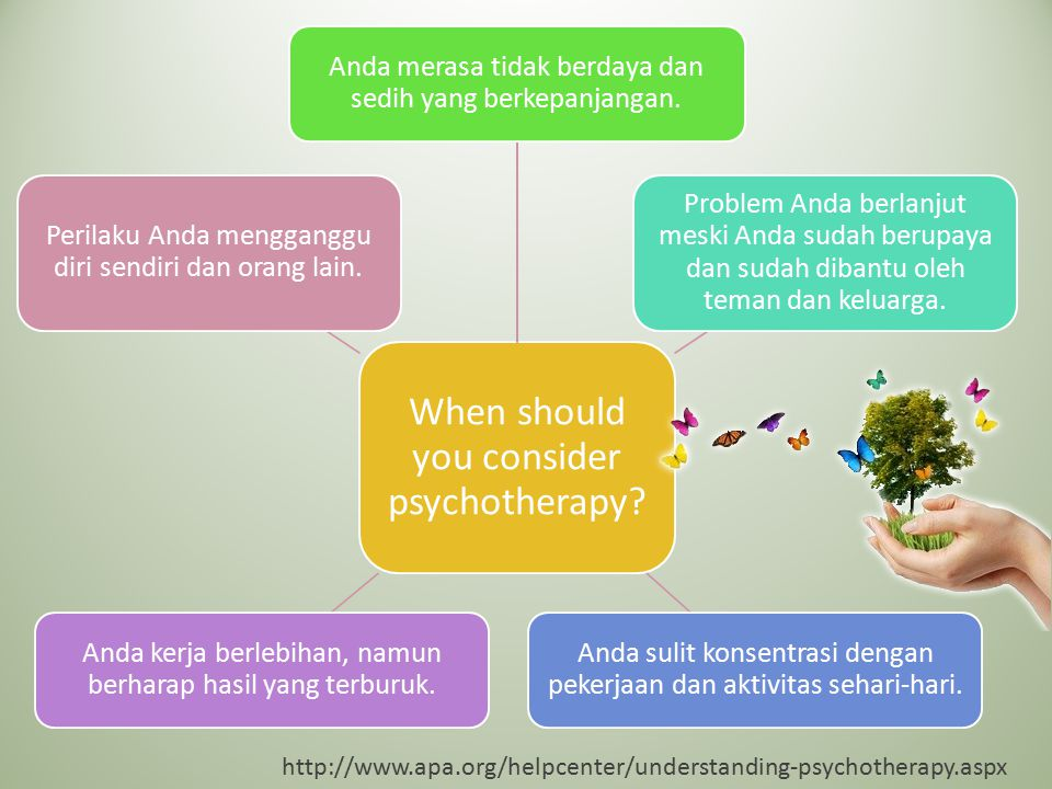 When should you consider psychotherapy