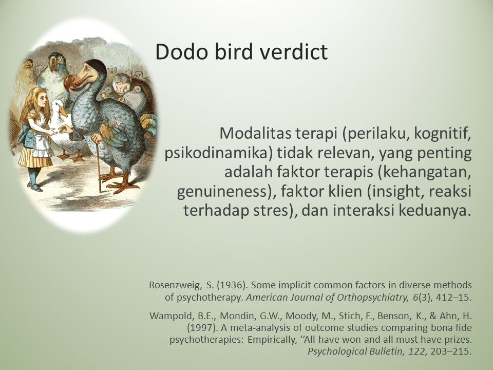 Dodo bird verdict
