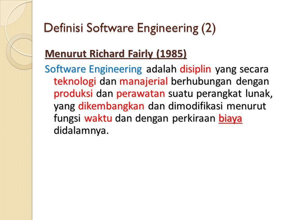 Definisi Software Engineering (2)