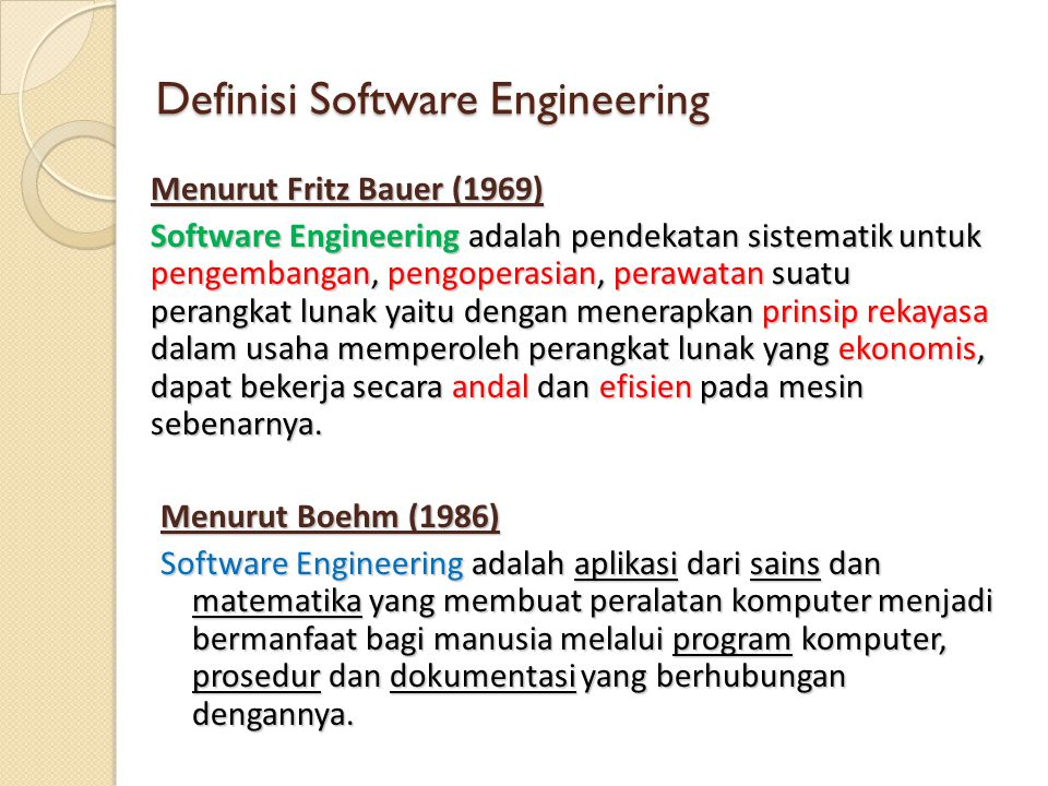 Definisi Software Engineering