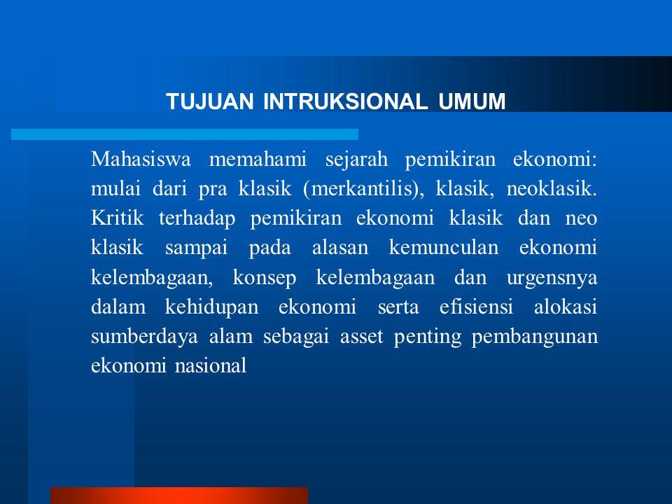 TUJUAN INTRUKSIONAL UMUM