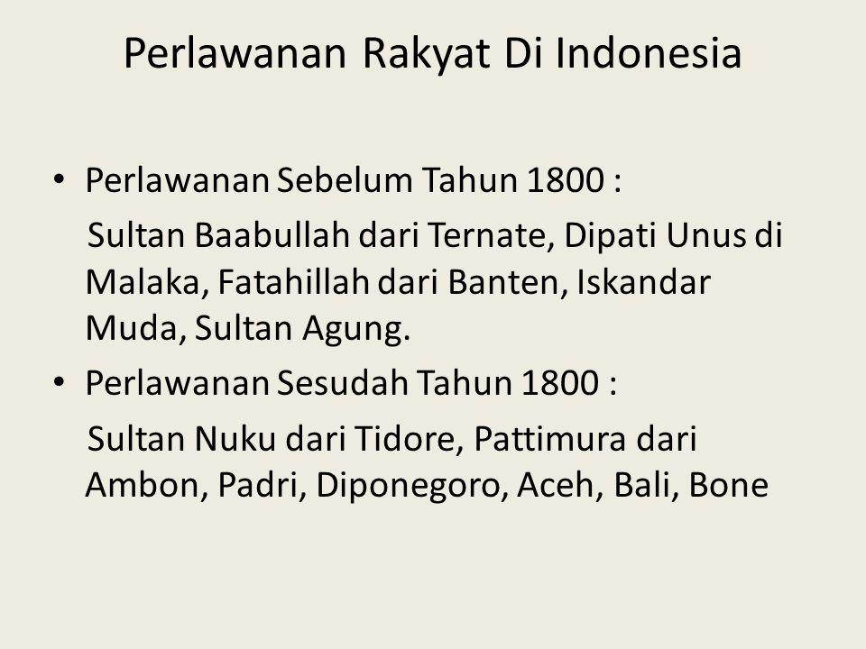 Perlawanan Rakyat Di Indonesia